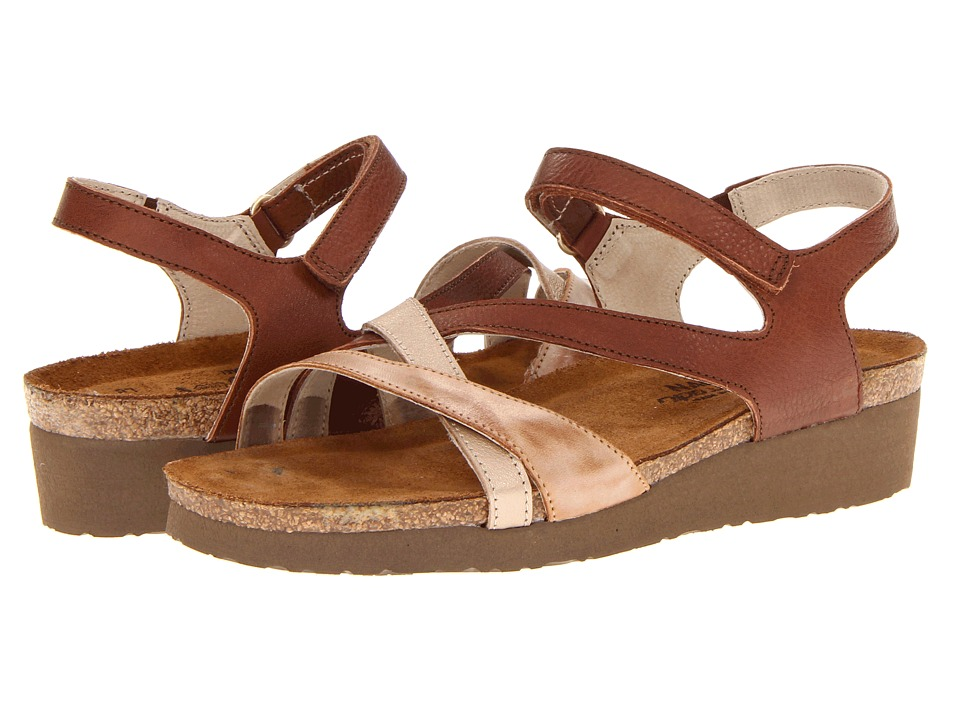 Naot Footwear - Sophia (Golden Mocha Leather/Biscuit Leather/Champagne Leather) Women's Sandals