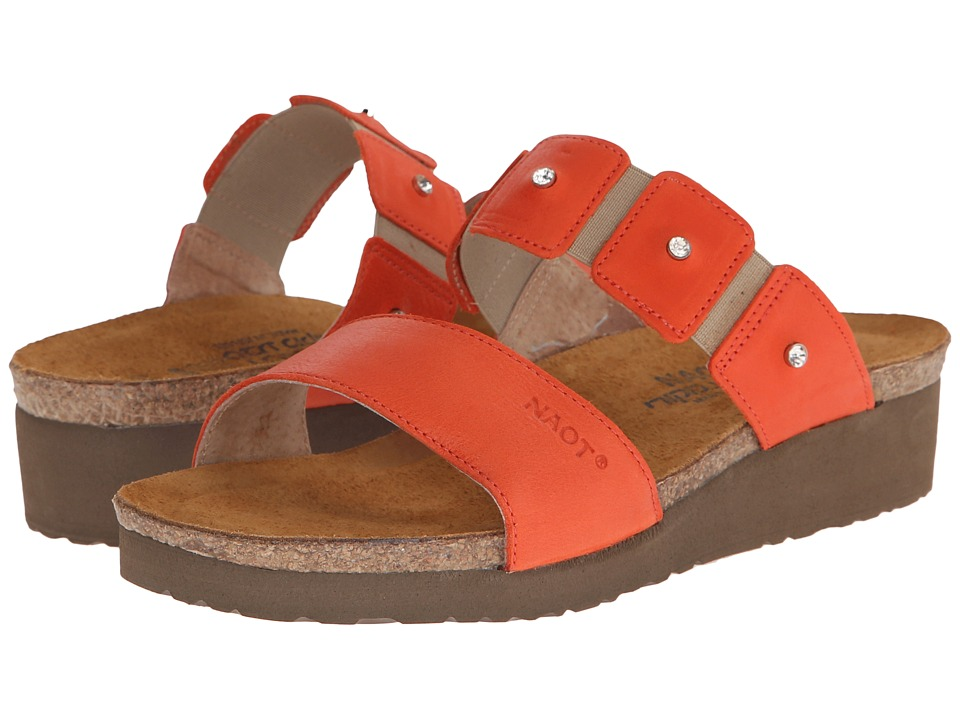 Naot Footwear Ashley (Orange Leather) Women