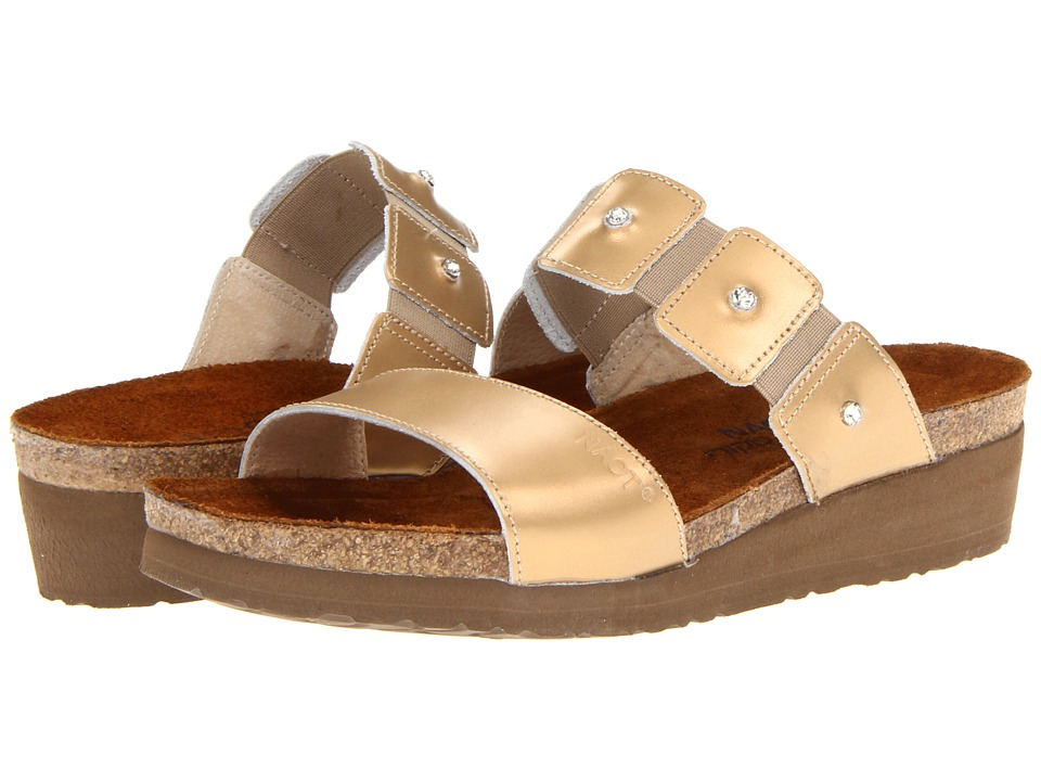 Naot Footwear - Ashley (Gold Sheen Leather) Women's Sandals