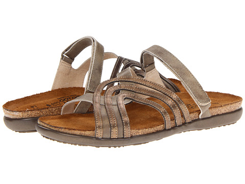Naot Footwear - Amanda (Vintage Beige Leather/Brass Leather) Women's Sandals