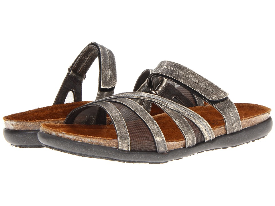 Naot Footwear - Stella (Metal Leather/Gray Mesh) Women's Sandals