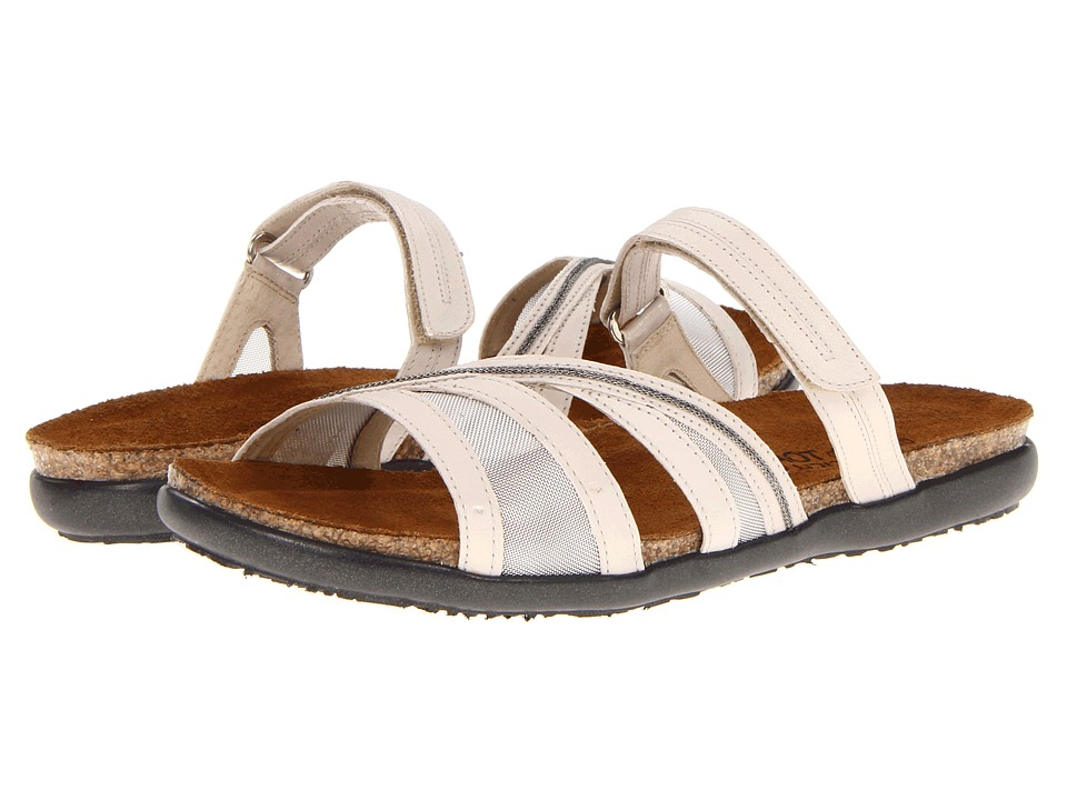 Naot Footwear - Stella (Dusty Silver Leather/Platinum Mesh) Women's Sandals
