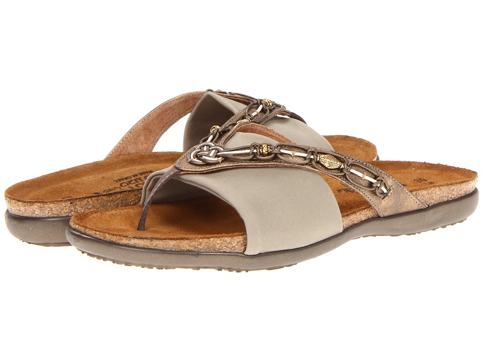 Naot Footwear - Jennifer (Brass Leather/Taupe Stretch) Women's Sandals
