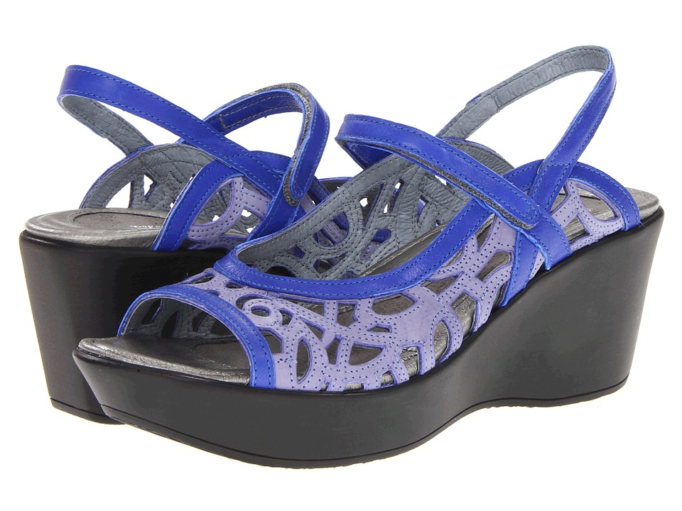 Naot Footwear - Deluxe (Sky Leather/Cobalt Blue Patent Leather) Women