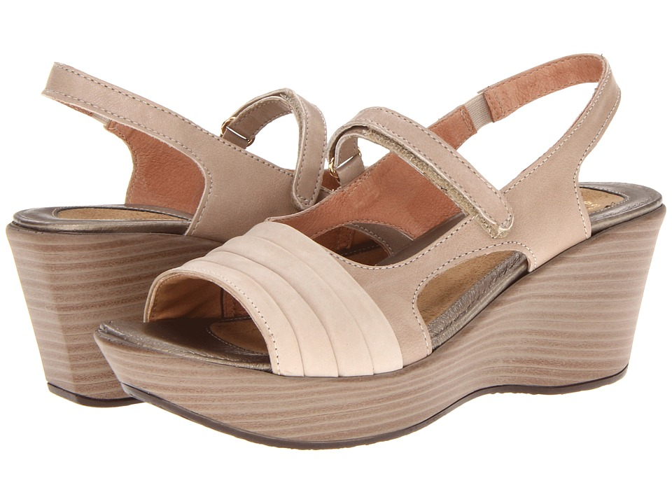 Naot Footwear - Gallus (Linen Leather/Bone Nubuck) Women's Sandals