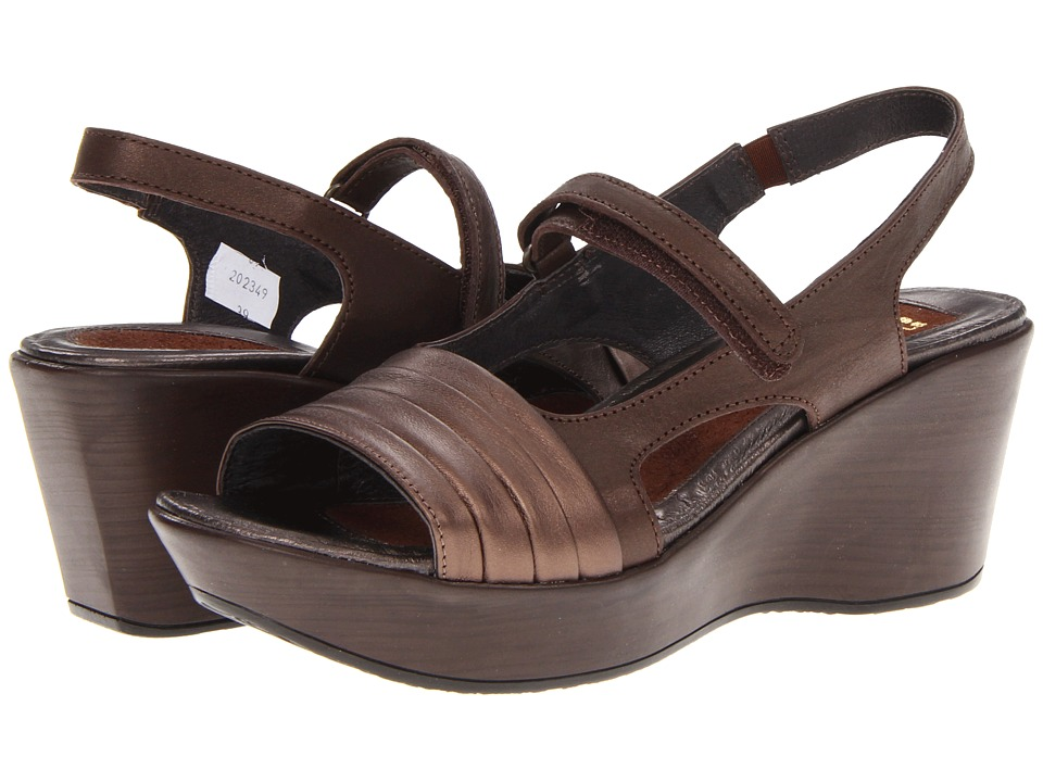 Naot Footwear - Gallus (Brown Shimmer Nubuck/Copper Leather) Women's Sandals