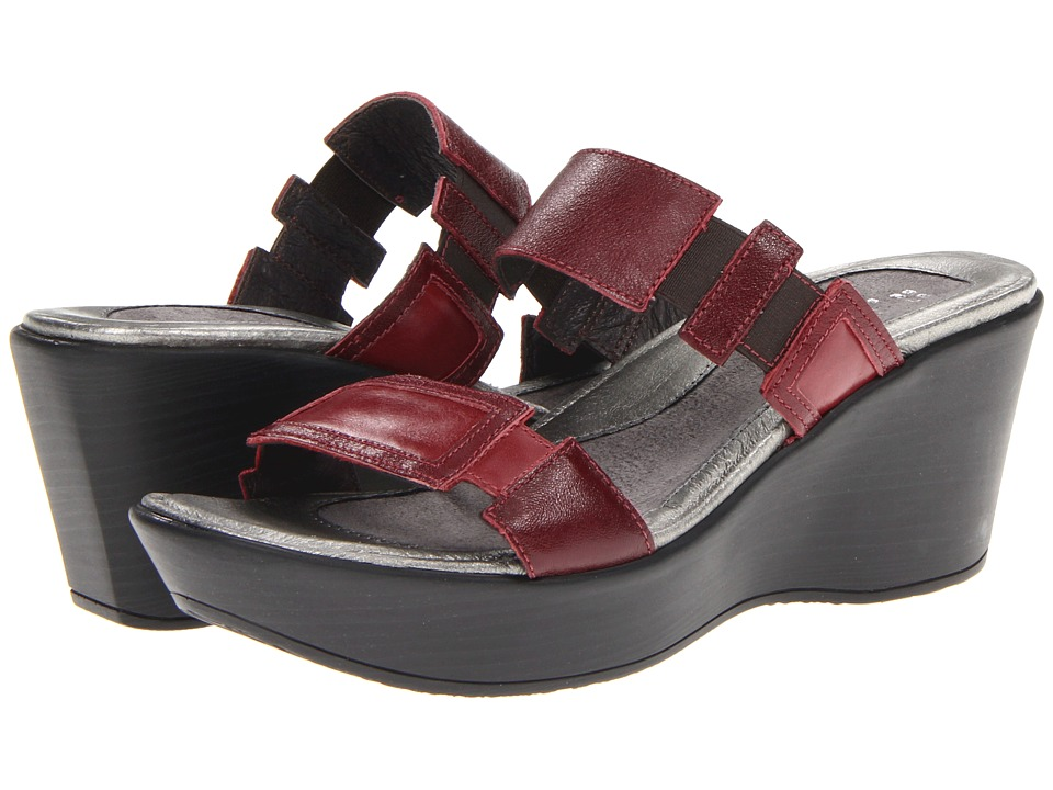 Naot Footwear - Treasure (Merlot Leather/Rumba Leather) Women's Sandals