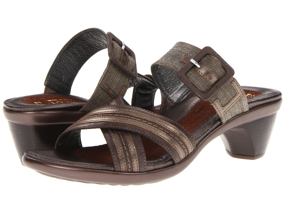 Naot Footwear - Marvel (Dark Sienna Leather/Coffee Tweed/Pewter Leather) Women's Sandals