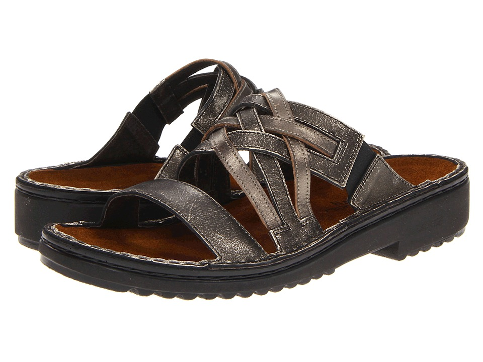 Naot Footwear - Ingrid (Metal Leather/Pewter Leather) Women's Sandals