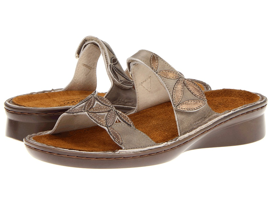 Naot Footwear - Mozart (Vintage Beige Leather/Brass Leather) Women's Sandals