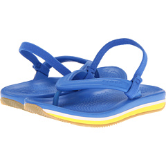 SALE! $16.99 - Save $13 on Crocs Kids Retro Flip Flop (Toddler Little Kid) (Varsity Blue Burst) Footwear - 43.35% OFF $29.99