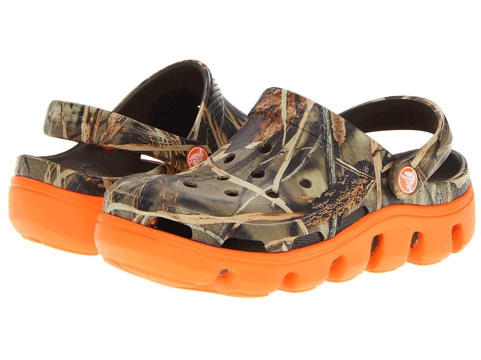 Crocs Kids - Duet Sport Realtree Clog (Toddler/Little Kid) (Chocolate/Orange) Boys Shoes