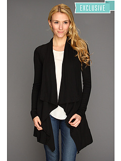 SALE! $51.99 - Save $76 on Three Dots L S Open Cardi w Pockets (Black) Apparel - 59.38% OFF $128.00