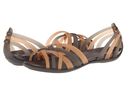 Crocs - Huarache Flat (Bronze/Espresso) Women's Sandals