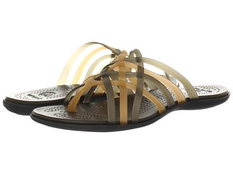 Crocs - Huarache Flip Flop (Bronze/Espresso) Women's Sandals