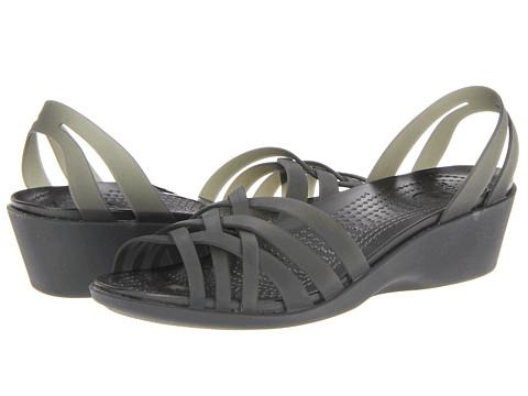 Crocs - Huarache Mini Wedge (Black/Black) Women