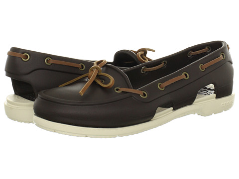 Crocs - Beach Line Boat Shoe (Espresso/Stucco) Women