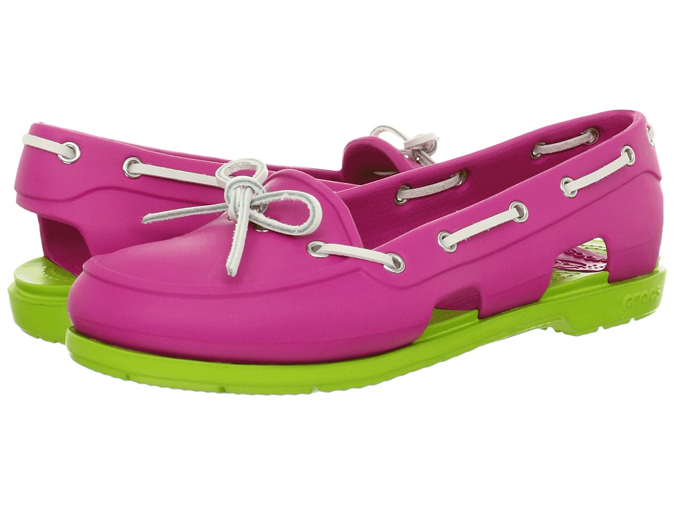 Crocs - Beach Line Boat Shoe (Fuchsia/Volt Green) Women's Shoes