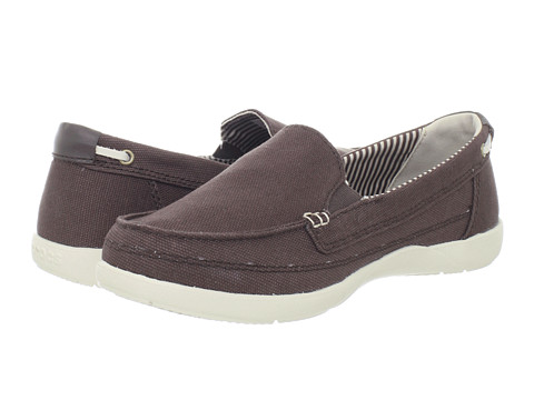 Crocs - Walu Canvas Loafer (Espresso/Stucco) Women