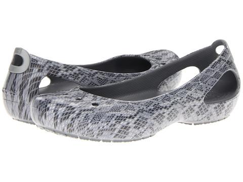cfaa52d4502954 ... UPC 883503959149 product image for Crocs Kadee Snake Print Flat  (Black Silver) Women s ...