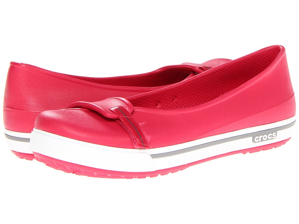 Crocs - Crocband 2.5 Flat (Raspberry/Smoke) Women