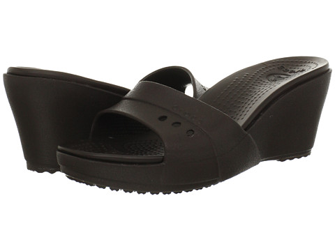 Crocs - Kadee Wedge (Espresso/Espresso) Women's Wedge Shoes