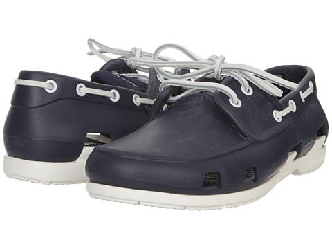 Crocs Men S Beach Line Lace Up Boat Shoe