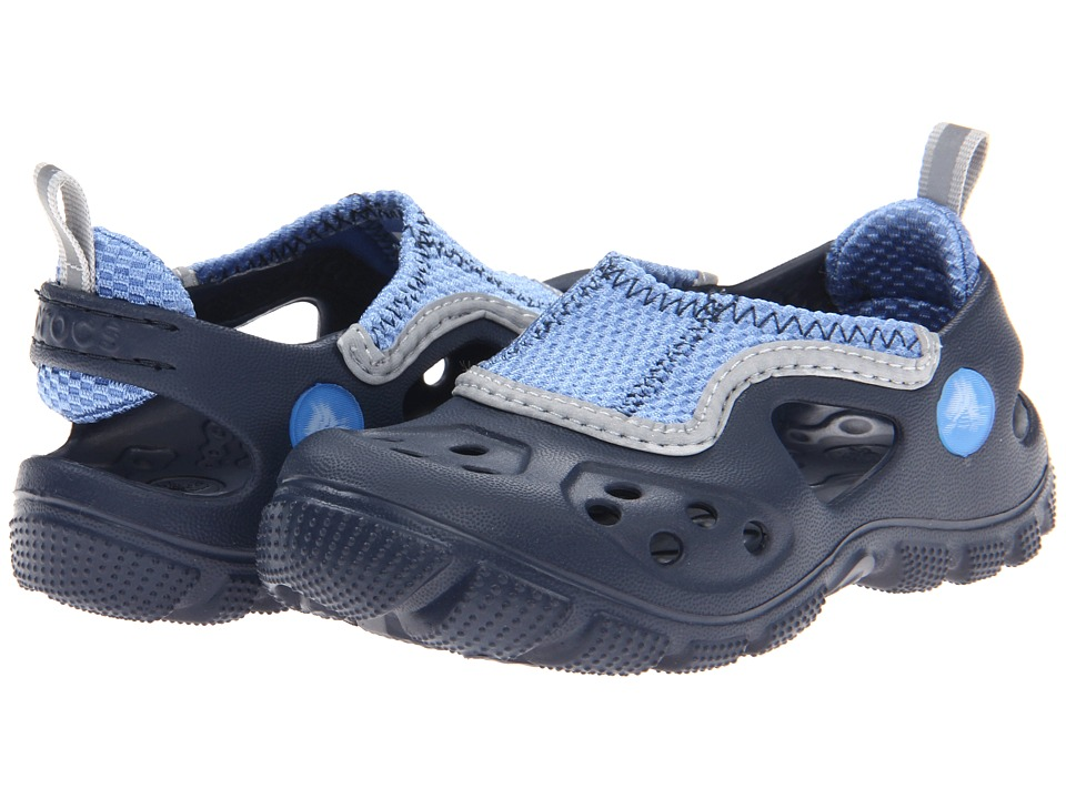Crocs Kids - Micah II Sandal (Toddler/Little Kid) (Navy/Sea Blue) Kids Shoes