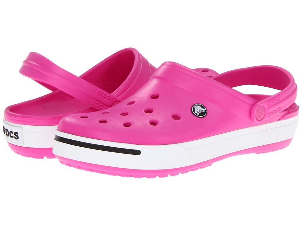 Crocs - Crocband II (Neon Magenta/Black) Shoes