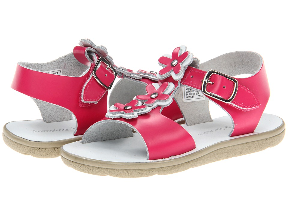 Jumping Jacks Kids - Sunflower (Toddler/Little Kid) (Hot Pink Leather/White Trim) Girls Shoes