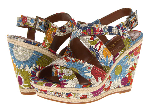 Hush Puppies - Renown Quarter Strap (Floral Fabric) Women's Wedge Shoes