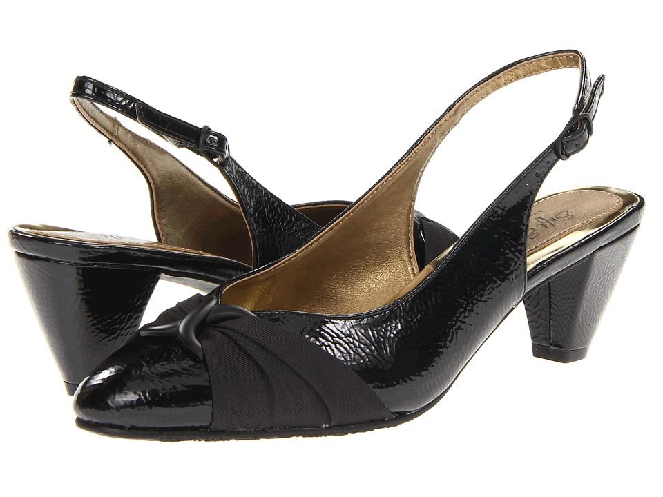 Soft Style Dezarae (Black Crinkle Patent) High Heels