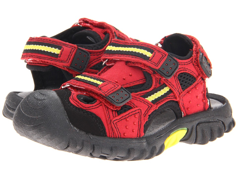 Jumping Jacks Kids - Power Sand (Toddler/Little Kid) (Dark Red/Yellow & Black Trim) Boys Shoes