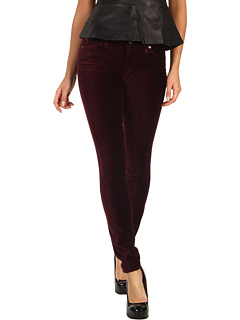 SALE! $71.99 - Save $106 on 7 For All Mankind The Skinny Riche Touch Velvet (Sauvignon Wine) Apparel - 59.56% OFF $178.00
