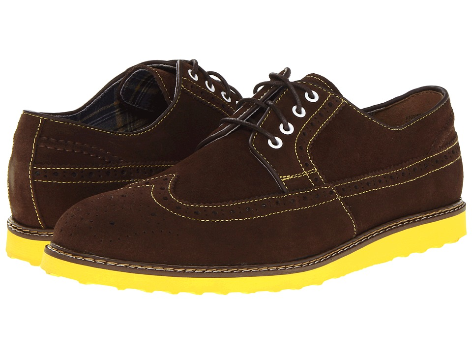 Hush Puppies - Full Wing Wedge (Espresso Suede) Men's Lace Up Wing Tip Shoes