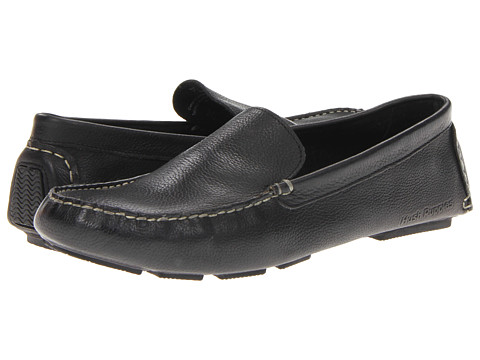 Hush Puppies - Monaco Slip On MT (Black Leather) Men's Moccasin Shoes