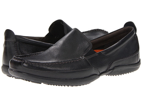 Hush Puppies - Accel Slip-On MT (Black Leather) Men