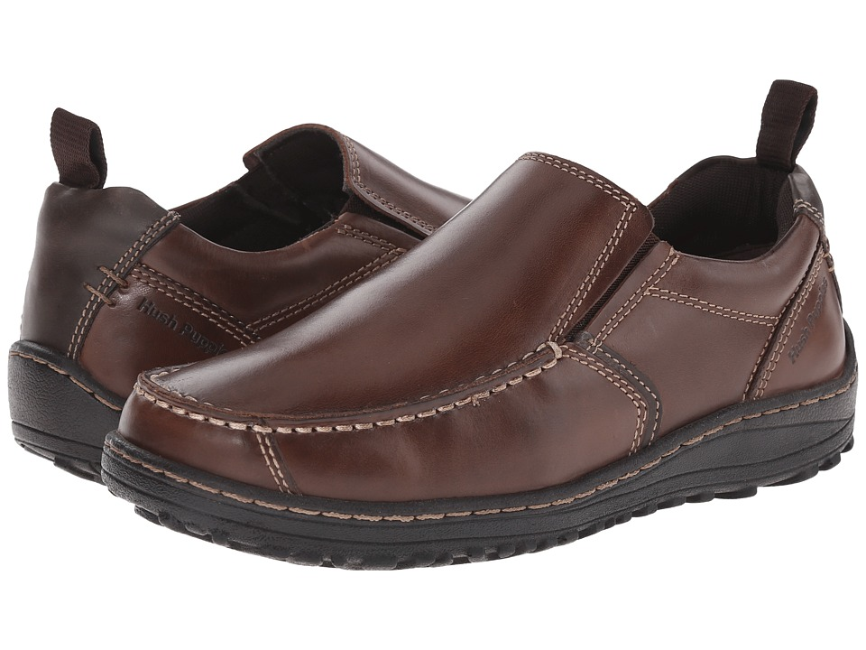 Hush Puppies - Belfast Slip On MT (Brown Leather) Men's Slip on Shoes