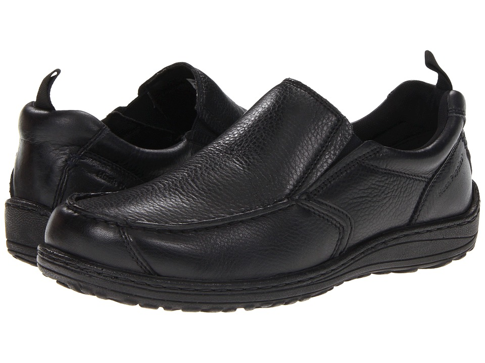 Hush Puppies - Belfast Slip On MT (Black Leather) Men's Slip on Shoes