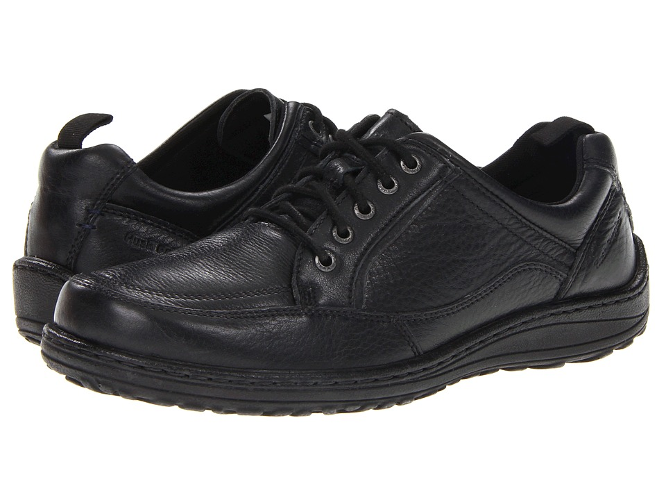 Hush Puppies - Belfast Oxford MT (Black Leather) Men's Lace up casual Shoes
