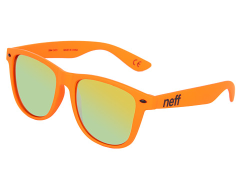 Neff - Daily Shades (Orange Velvet Finish) Sport Sunglasses