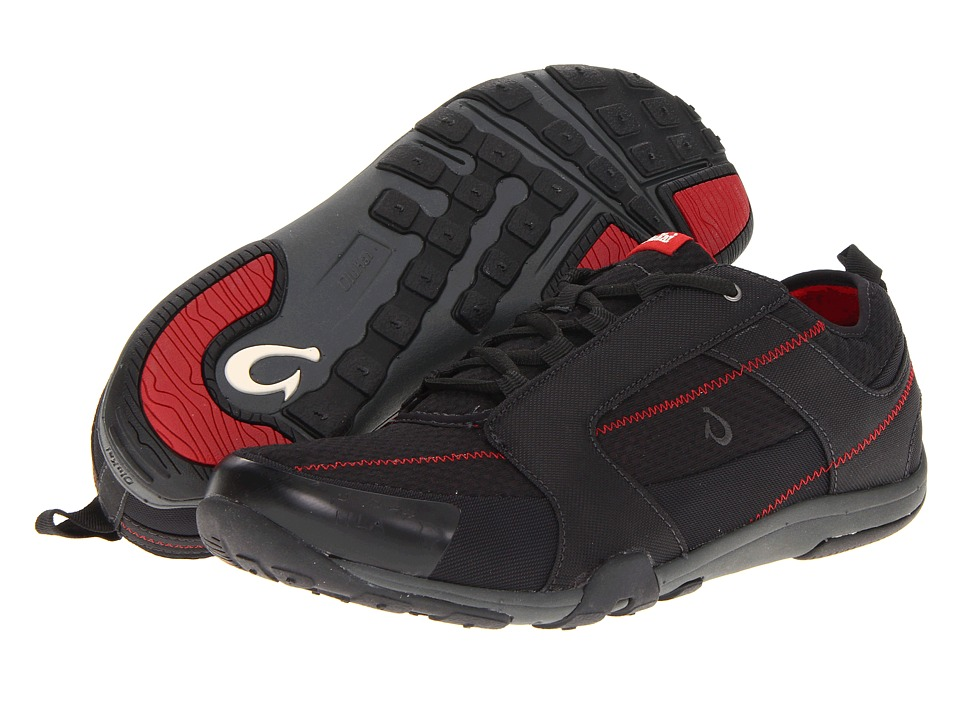 OluKai - Kamiki (Black/Deep Red) Men's Shoes