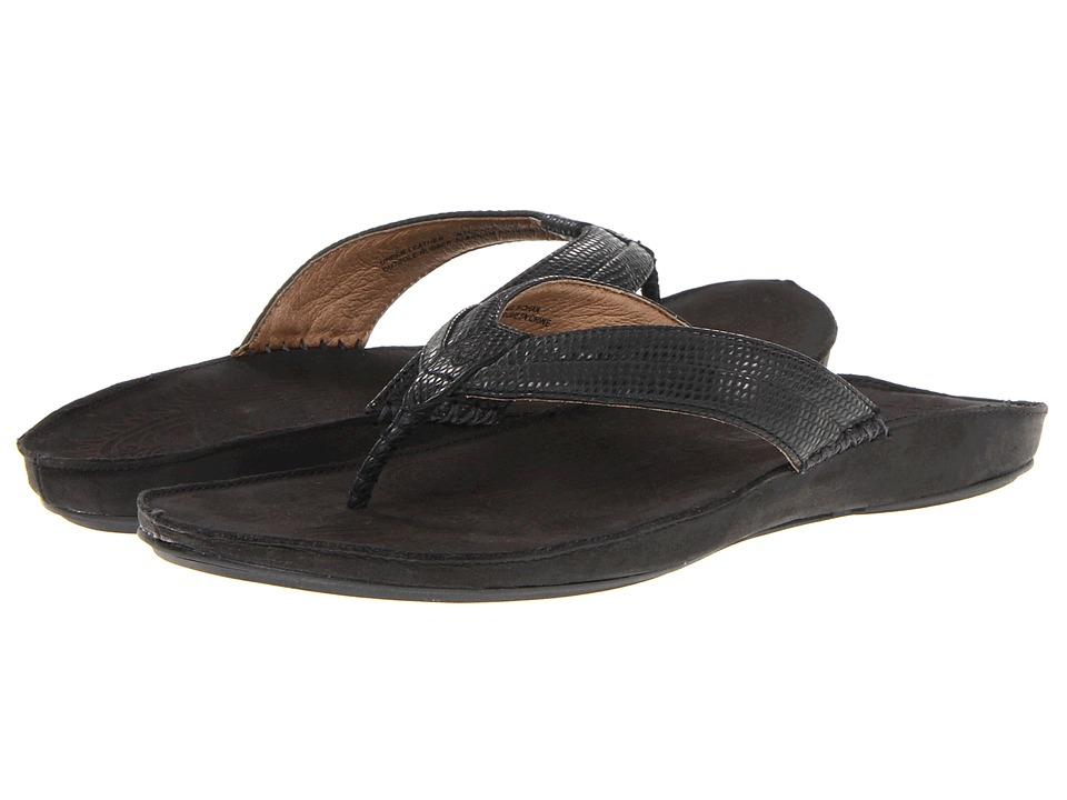 OluKai - Haiku Elua W (Black/Dark Shadow) Women's Sandals