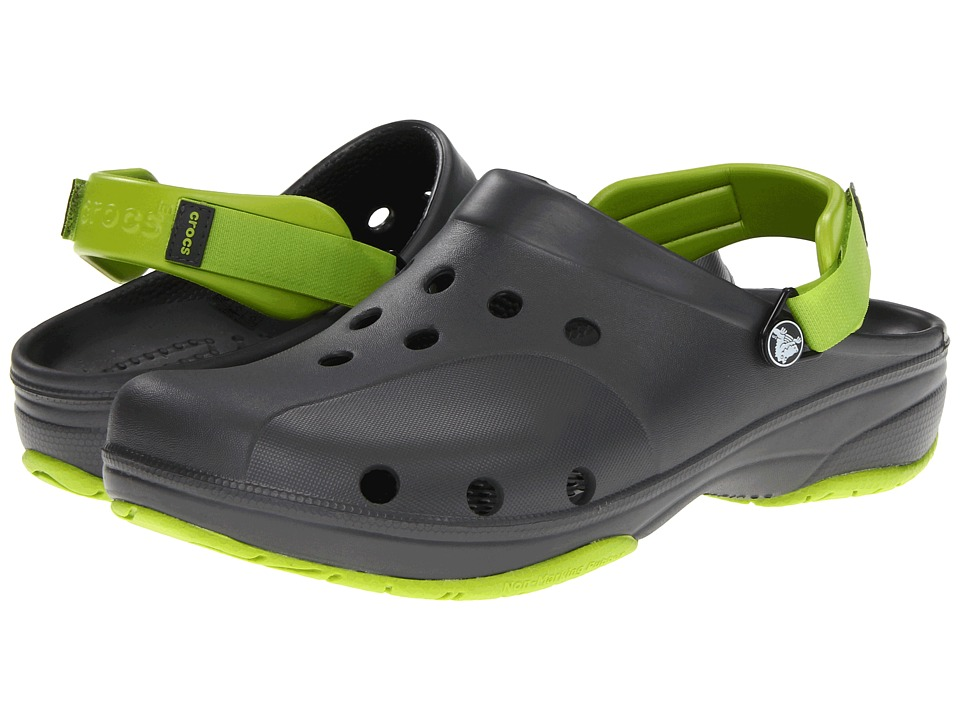 Crocs - Ace Boating - Unisex (Graphite/Volt Green) Clog Shoes