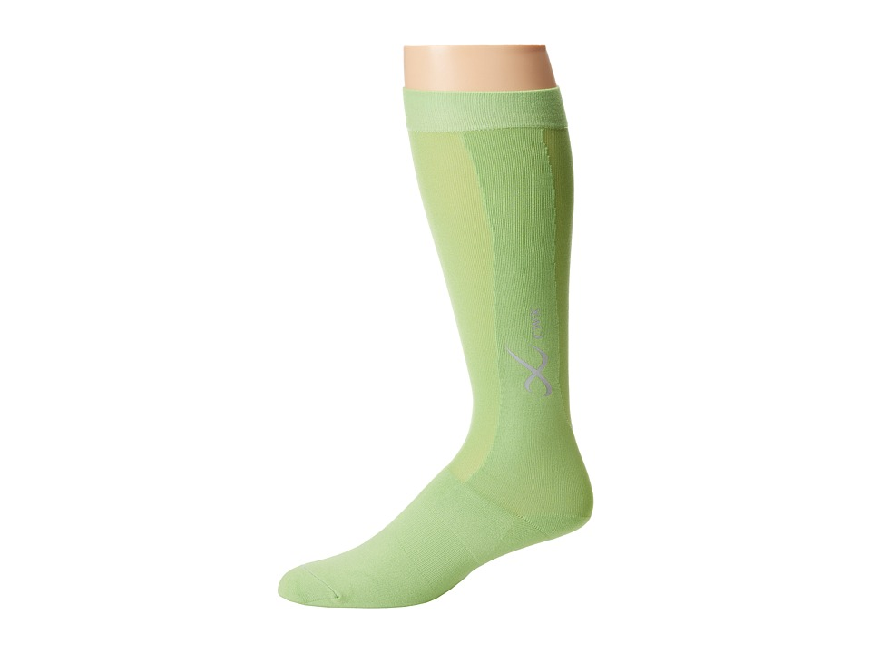 CW-X - Compression Support Socks (Lime) Knee High Socks Shoes