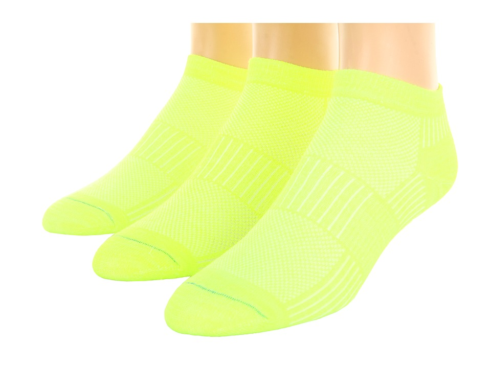 Wrightsock - Coolmesh II Lo 3-Pair Pack (Yellow) Low Cut Socks Shoes