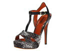 Missoni - Iridescent Flame Stitch Platform Sandal (Black) Sandal