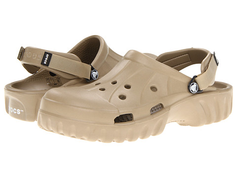 Crocs - Off Road (Unisex) (Khaki/Khaki) Clog Shoes