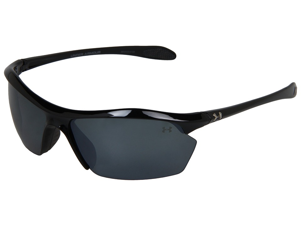Under Armour - Zone XL Polarized (Shiny Black/Gray Polarized Multiflection) Athletic Performance Sport Sunglasses