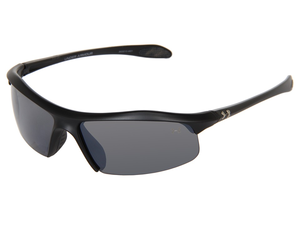 Under Armour - Zone (Satin Black/Gray Multiflection) Athletic Performance Sport Sunglasses